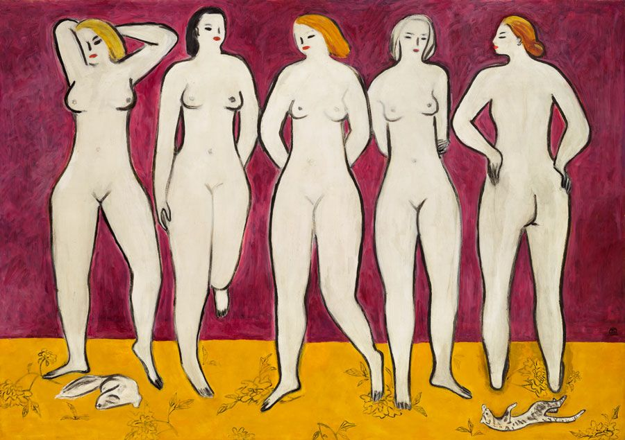 Sanyu (Chang Yu, 1895-1966), Five Nudes, 1950s. Estimate: HK$250,000,000-550,000,000. Offered on 23 November in 20th Century & Contemporary Art Evening Sale in Hong Kong