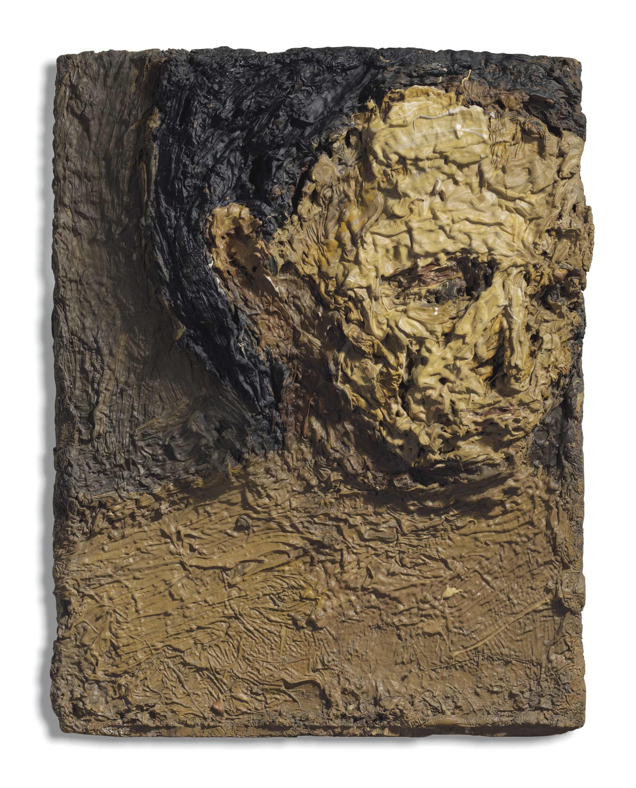 Frank Auerbach, Head of E.O.W., 1955. Oil on board. 15¾ x 12½ in (40 x 31.8 cm). Estimate: £800,000-1,200,000. Offered in The Jeremy Lancaster Collection on 1 October at Christie's in London