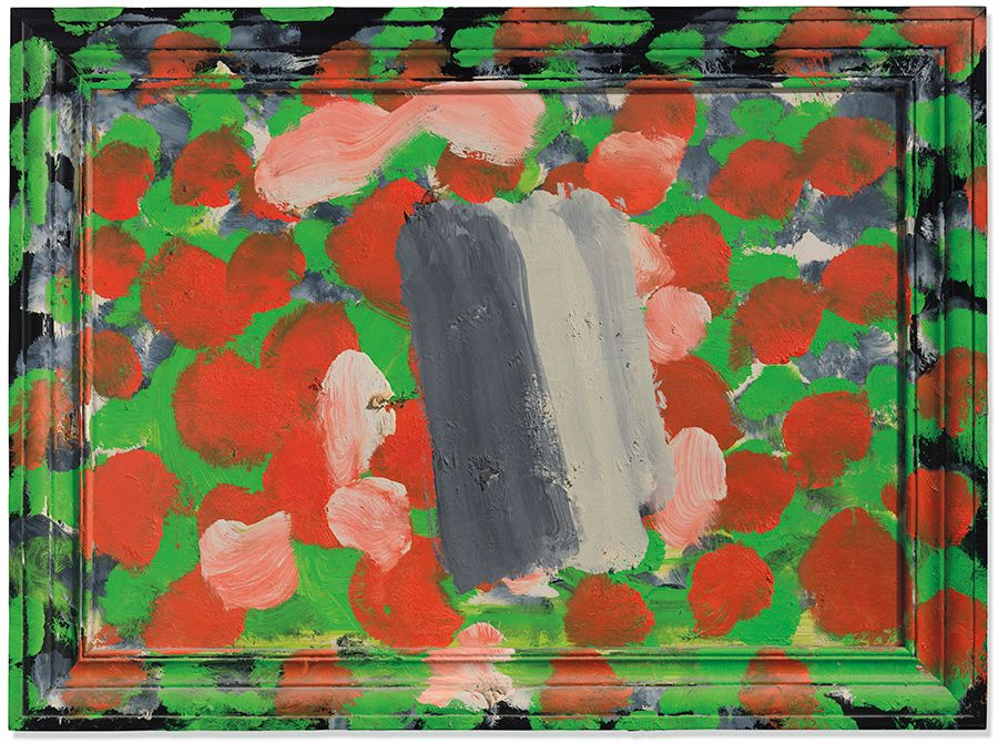 Howard Hodgkin (1932-2017), Flowerpiece, 2004-2005. 26⅛ x 35⅜ in (66.5 x 90 cm). Estimate: £400,000-600,000. Offered in The Jeremy Lancaster Collection on 1 October 2019 at Christie's in London