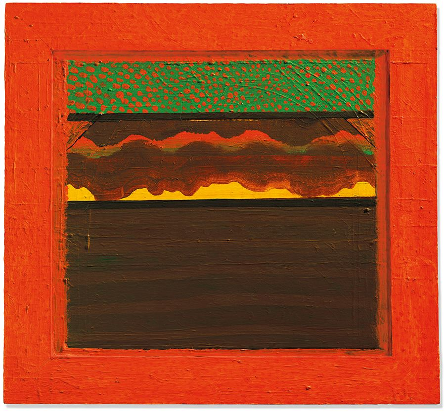 Howard Hodgkin (1932-2017), Bombay Sunset, 1972-1973. 33½ x 36⅜ in (85 x 92.3 cm). Estimate: £500,000-700,000. Offered in The Jeremy Lancaster Collection on 1 October 2019 at Christie's in London