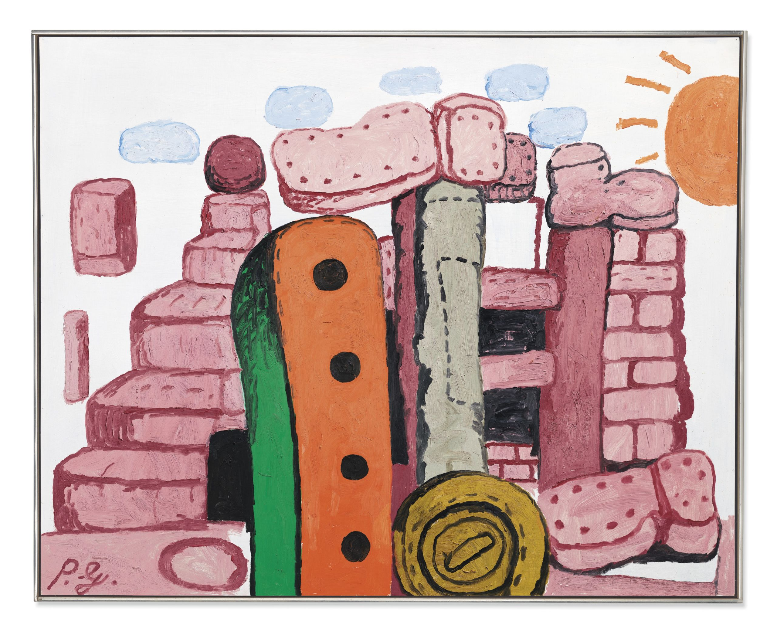 Philip Guston, Language 1, 1973. Oil on panel. 48 x 60 in (122 x 152 cm). Estimate: £1,500,000-2,000,000. Offered in The Jeremy Lancaster Collection on 1 October at Christie's in London
