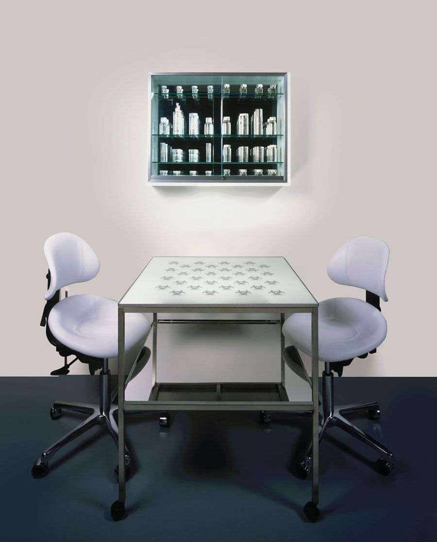 Damien Hirst (b. 1965), Mental Escapology (2003). Chairs 1000 x 500 x 600 mm (each). Estimate: £100,000-150,000. Offered in Prints & Multiples on 18 September 2019 at Christie's in London